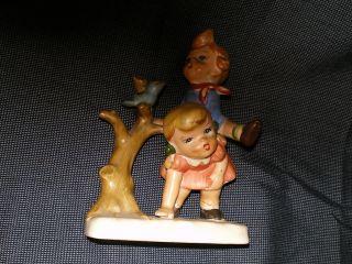 Porcelain Children Figurines Leapfrogging,  Royal Crown? Japan,  Vintage photo