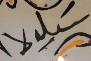 1954 Signed Limited Edition Salvador Dali Les Colombes Polychrome Enamel Tile photo