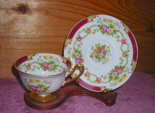 Shelley China Dubarry Cup And Saucer photo