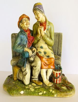 1972 Handpainted ' Celebration ' Figurine By Naturecraft In England - Company Gone photo