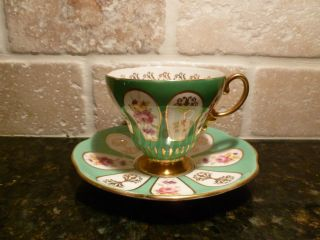 Foley Bone China Tea Cup And Saucer - Eb - Porcelain - Made In England - 1850 photo