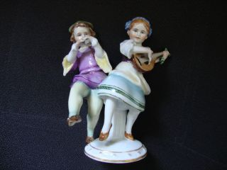 Antique Germany Dresden Porcelain Figurine photo