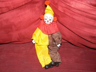 Vintage Antique Handmade Porcelain Clown Decorative Doll Figurine photo