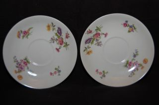 Vintage B&c Limoges France 2 Saucers L Bernardaud photo