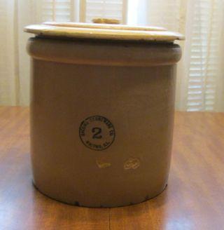 Antique Vintage Macomb Stoneware Co.  (macomb,  Il) 2 10