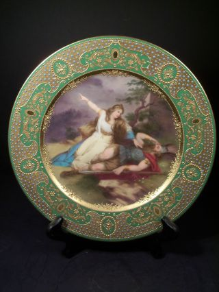 Antique Royal Vienna Porcelain Plate Of Sigfried ' S Death Signed Wagner photo