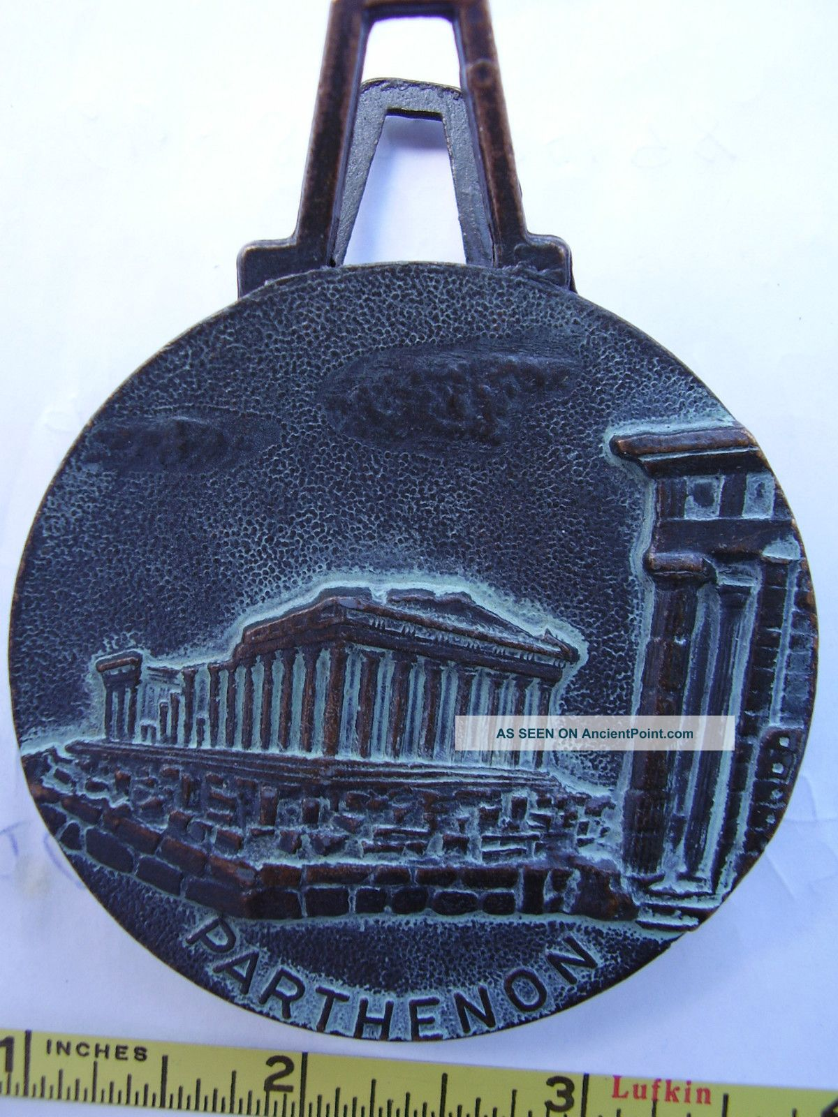 Antique Bronze Letter Paper Holder,  Paper Clip,  Aoe,  Parthenon,  Makers Mark Metalware photo