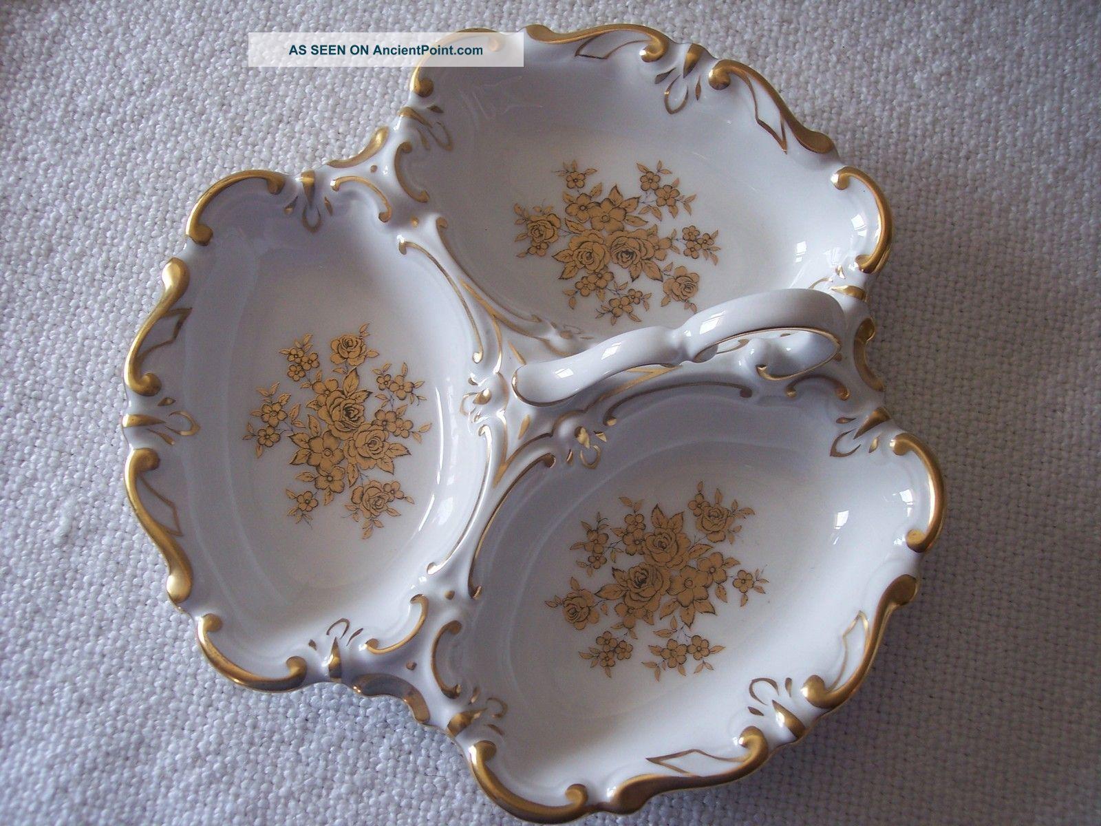 Jlmenau Rare Graf Von Henneberg Porcelain Relish Tray Germany Platters & Trays photo