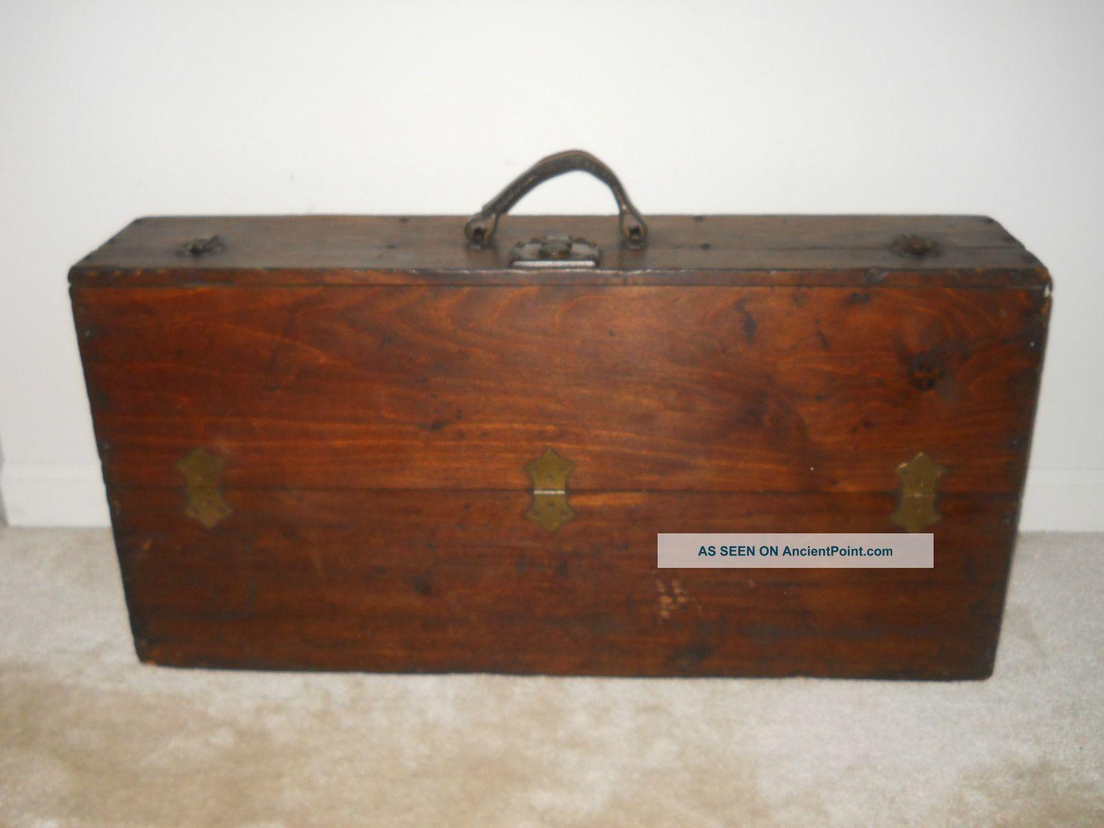 Antique Wooden Carpenters Tool Box