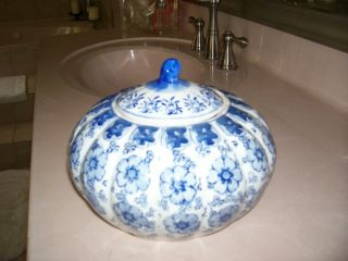 Blue And White Porcelain Pumpkin photo