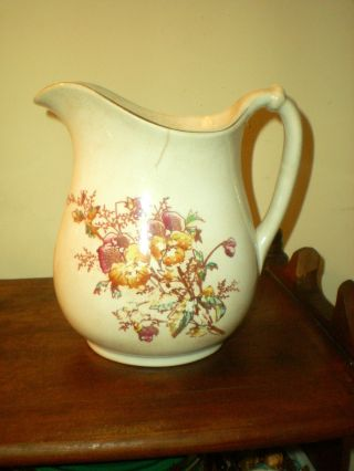 Antique Iron Stone China Pitcher photo