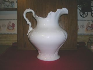 Antique New Jersey Pottery Co.  Porcelain Pitcher,  Ornate,  Circa 1869 - 1883,  Rare photo