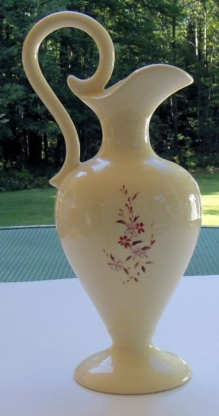 Hand Painted Japanese Style Ceramic Pitcher/vase photo