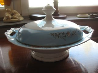 Antique Porcelain - Kuznetsov - Russian Tureen Soup Bowl photo