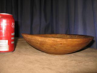 Antique Wood Dough Fruit Bowl Primitive Woodenware Hand Turned Treen Folk Art photo