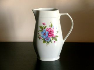 Vintage Alfoldi Hungarian Porcelain Pitcher photo