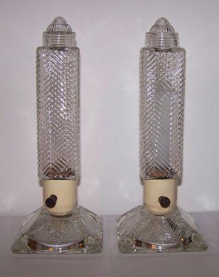 Vintage Art Deco Candlestick Table Lamps - Boudoir Lamps photo