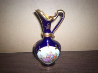 Porcelain Pitcher Gold Design. . .  Made In France. .  Stunning. . . photo