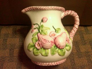 Dipinto A Mano Antique Water Pitcher Created In Italy photo