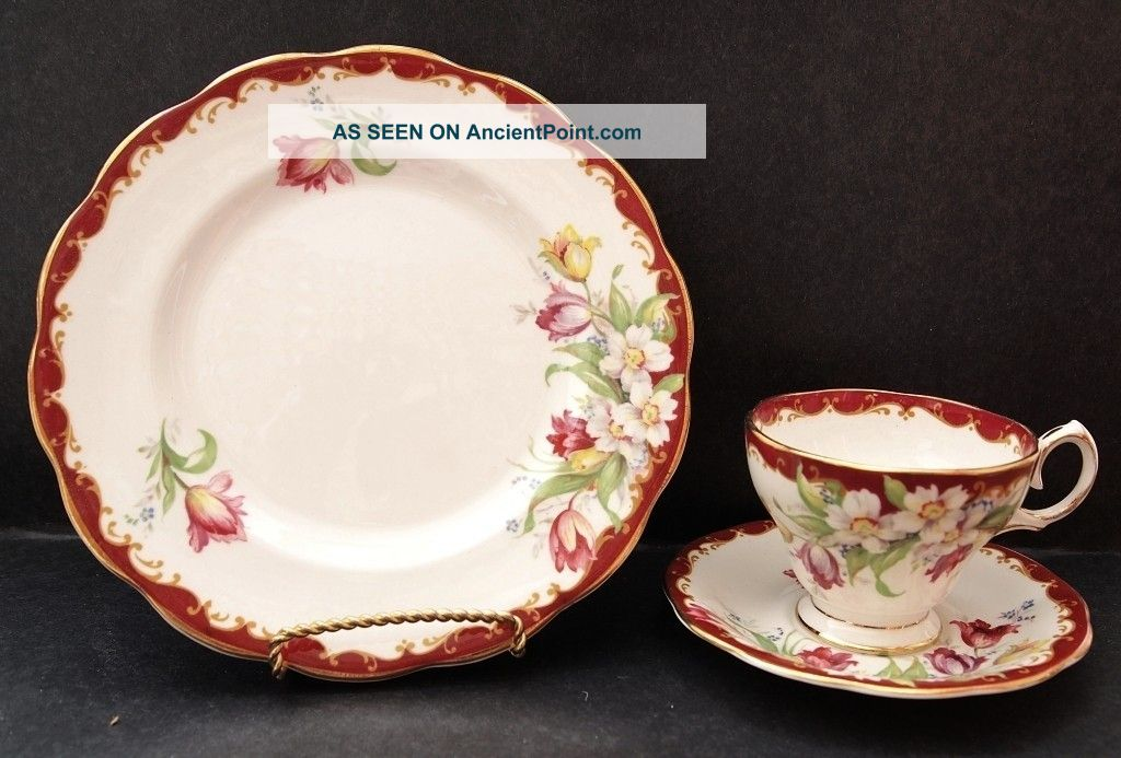 Bell China Tea Cup,  Saucer And Plate Narcissus Pattern Cups & Saucers photo