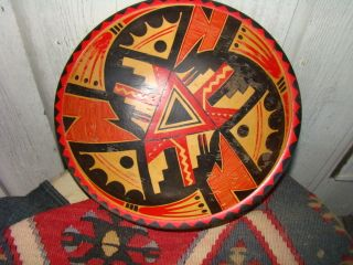 Unusual Munising Pueblo Native American Painted Bowl 1940 Signed Sister Mary photo
