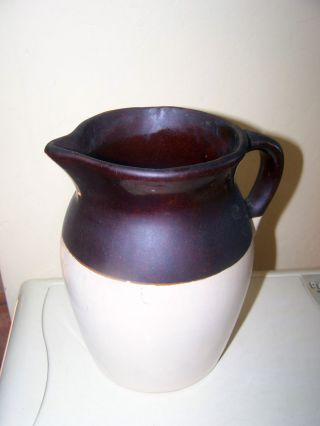 Vintage Americana Clay Pitcher 8.  5 X 6.  5