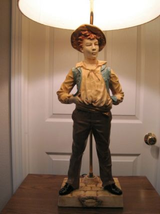 Antique Le Siffleur Sculpture Lamp photo