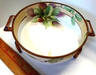 Nippon - Tri - Foot Antique Porcelain Nippon Nut Dish - L@@k At This photo