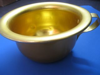 Vintage 1960s Anodised Childs Gold Colour Chamber Pot Retro Garden Plant Feature photo