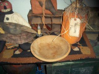 Old Wood Dough Bowl Vintage Woodenware Primitive photo