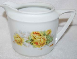 Vintage German Yellow Roses Pitcher By Kahla photo