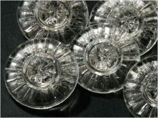(24) 18 Mm Vintage Deco Czech Fancy Clear Crystal Glass Buttons Daisy Flower photo