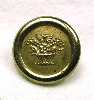 Antique Brass Jacksonian Button Flower Basket Design photo