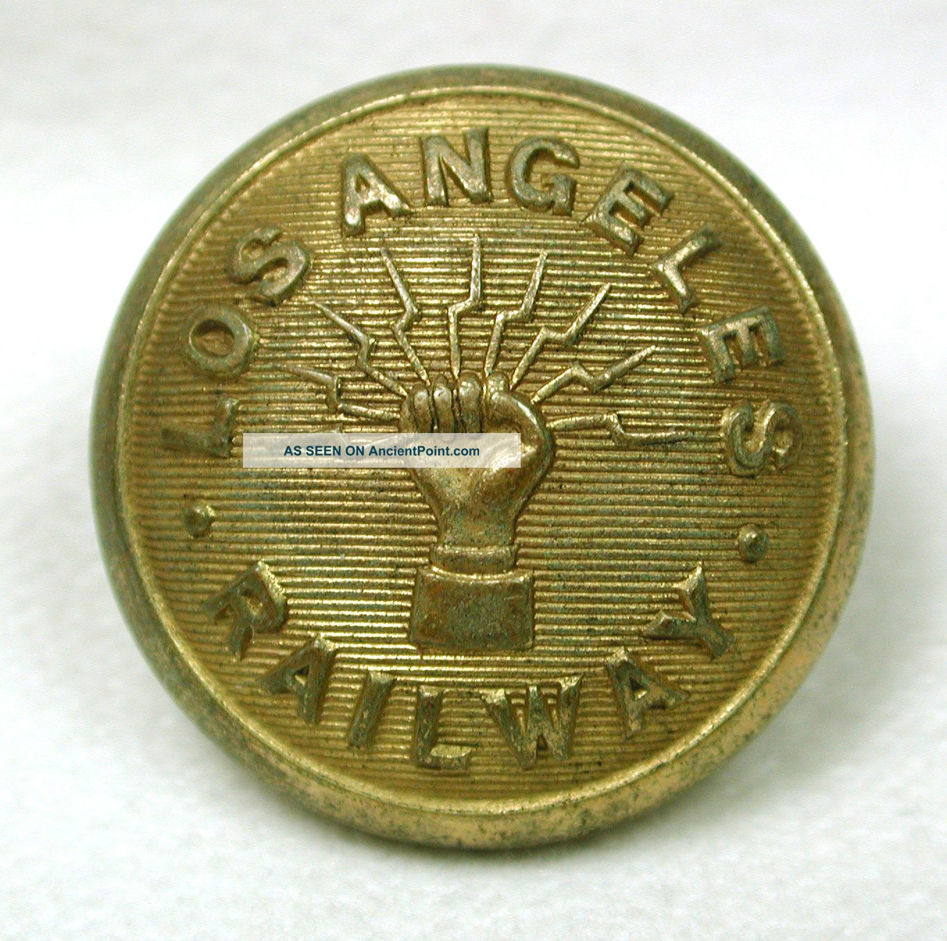 Antique Railroad Button Los Angeles Railway Design Buttons photo
