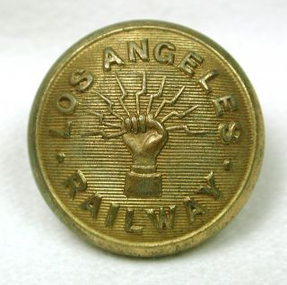 Antique Railroad Button Los Angeles Railway Design photo
