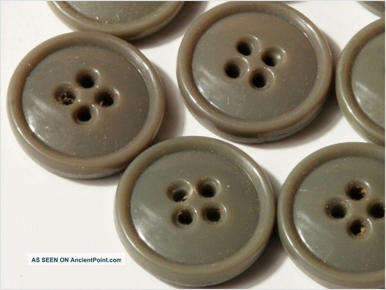 24 Czech Vintage Fancy Grey Sewthru Glass Buttons 16 Mm Buttons photo