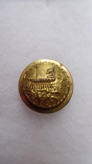 Antique New Hampshire State Seal Coat Button Scovill Mfg Co Waterbury 23 Mm photo
