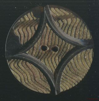 1930s - 40s Layered Celluloid Art Deco Wafer Button - 35mm photo
