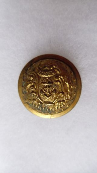 Antique Rhode Island State Seal Coat Button Scovill Mfg Co Waterbury 23 Mm photo