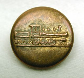 Antique Work Clothes Button Steam Locomotive Engine Design photo