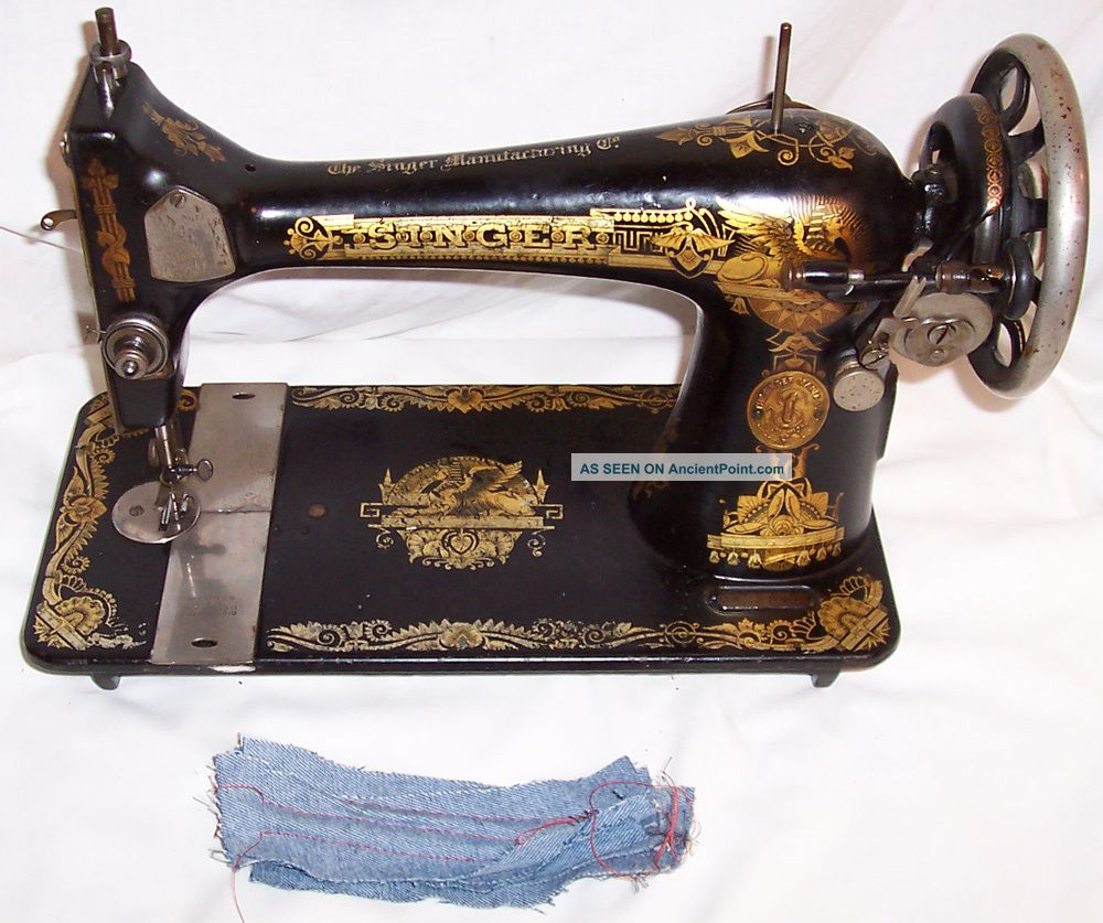 Serviced Antique 1915 Singer 127 Sphinx Treadle Sewing Machine Works See Video Sewing Machines photo