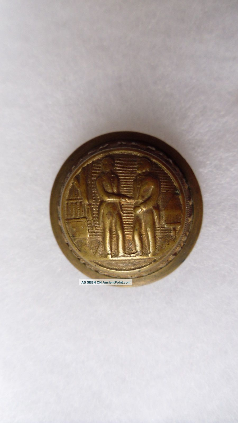 Antique Kentucky State Seal Coat Button M C Lilley & Co Columbus Ohio 23 Mm Buttons photo