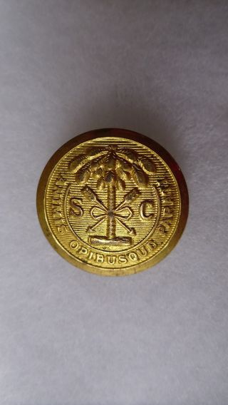 Antique South Carolina State Seal Coat Button Jacob Reeds Sons Norristown 23 Mm photo