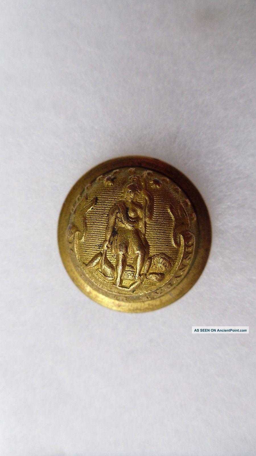 Antique Virginia State Seal Coat Button Horstmann Philadelphia 23 Mm Buttons photo