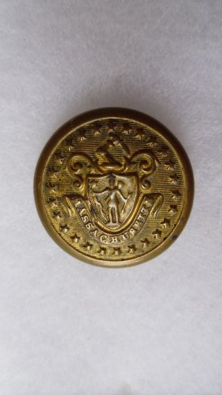 Antique Massachusetts State Seal Coat Button