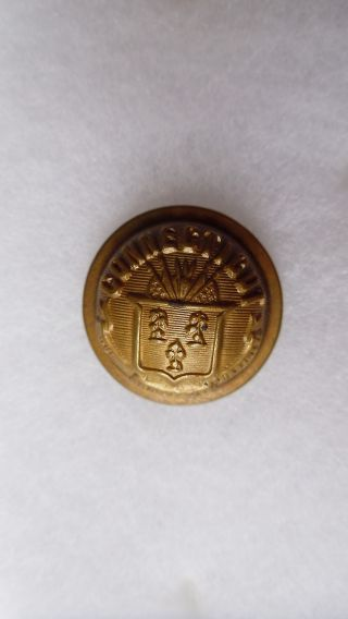 Antique Connecticut State Seal Coat Button Goodwins Pat July 27,  1875 23 Mm photo