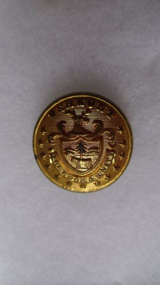 Antique Vermont State Seal Coat Button 23 Mm photo