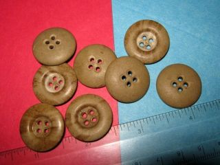 Set Of 8 Old Button Lot Vintage Very Stone Like Craft Sewing Estate photo