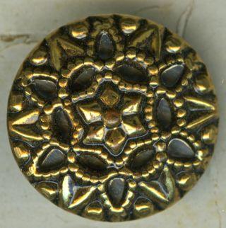 Vintage Metallic Schwanda Buttons (3) C.  1940s? photo