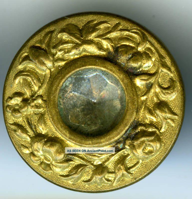 Antiq.  Metal Buttons (15),  C.  1880s? Wreath Design Buttons photo